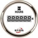 Счетчик моточасов ECMS CLH2-WS-HS 52мм белый