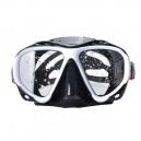Маска для плавания YM366 бело-черная
