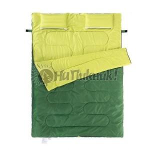 Двойной спальный мешок с подушками Nature Nike 185+30*145см зеленый