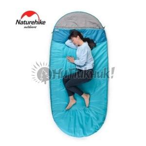 Спалный мешок Nature Hike PAD200 овальной формы (200+30)*100см синий