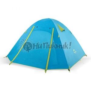 3-х местная палатка с алюминиевыми стойками P-Series 210T65D 205х(160+45)см синяя