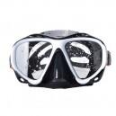 Маска для плавания YM366 бело/черная